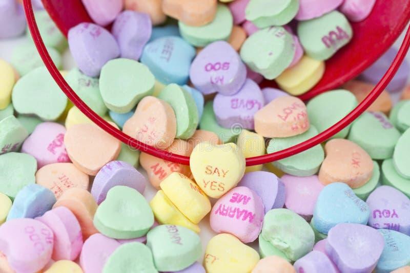 kształtujący cukierku serce zdjęcia stock