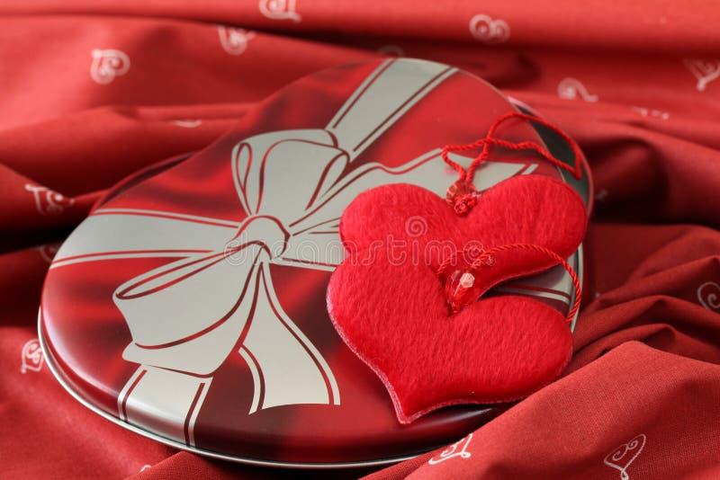 kształtujący dekoraci pudełkowaty serce fotografia royalty free