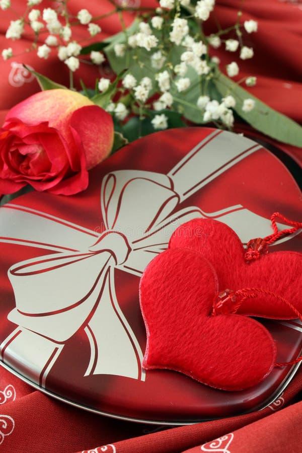 kształtujący dekoraci pudełkowaty serce zdjęcia stock