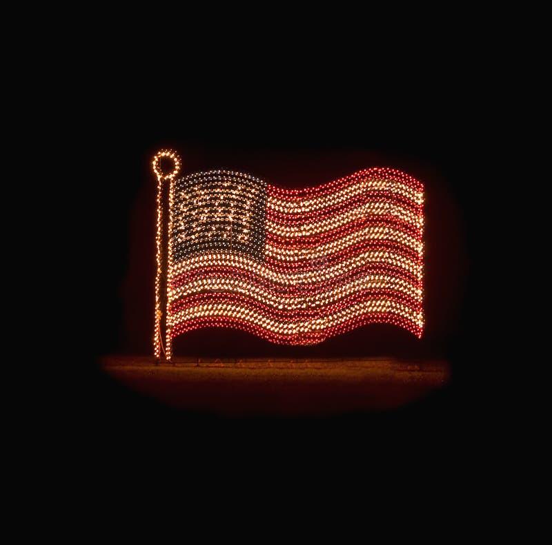kształtujący flaga amerykańskich światła zdjęcie royalty free