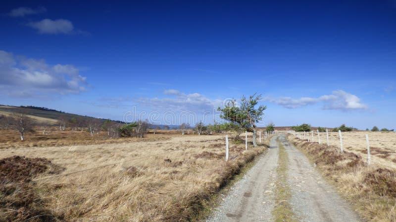 Kształtuje teren w livradois forez, Auvergne, France zdjęcie stock