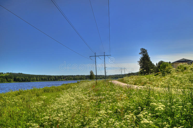 Kształtuje teren w Szwedzkiej wiosce zdjęcia royalty free