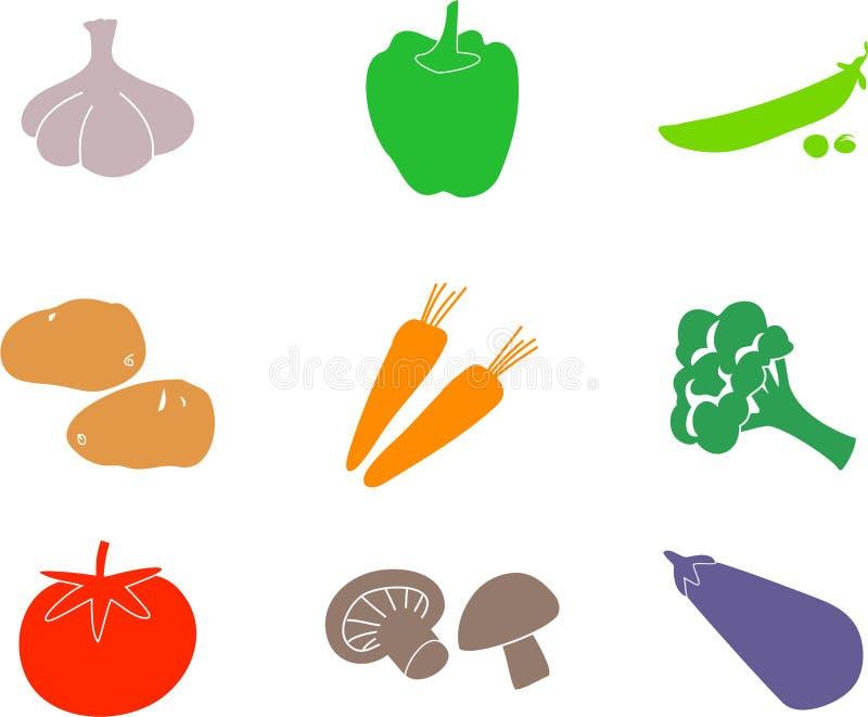 kształtuje warzywa ilustracja wektor