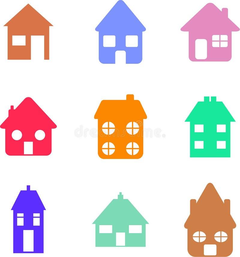 kształty domów royalty ilustracja