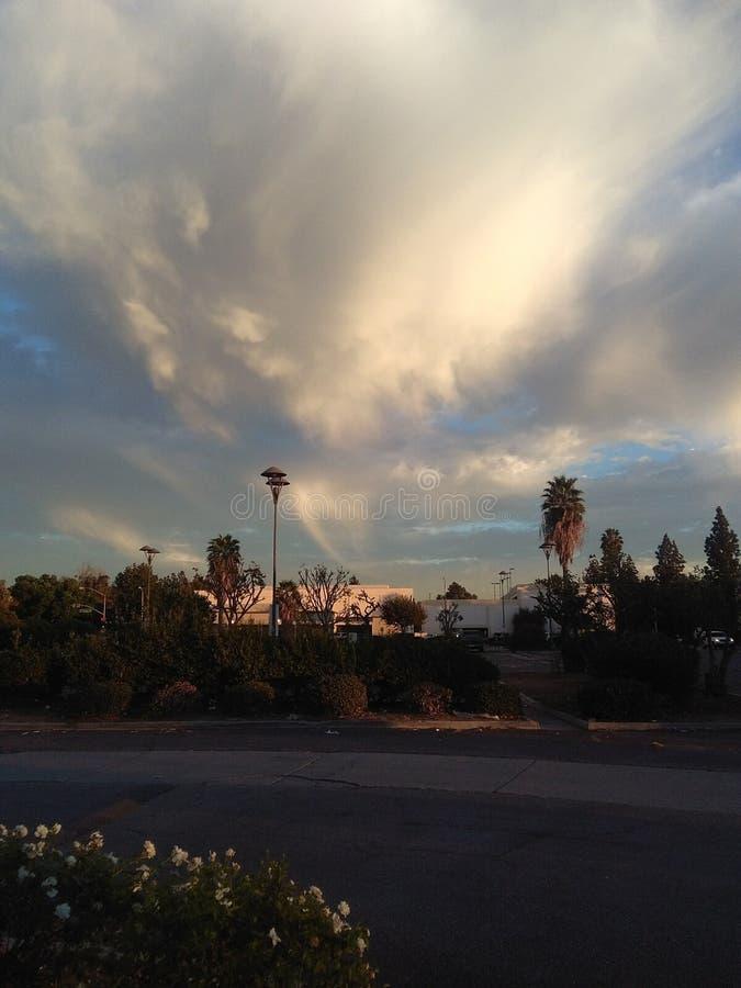 Kształty w chmurach obraz stock