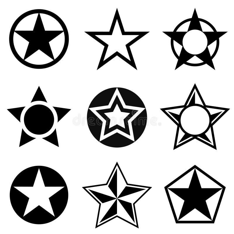 Kształty z pięcioramienną gwiazdą royalty ilustracja