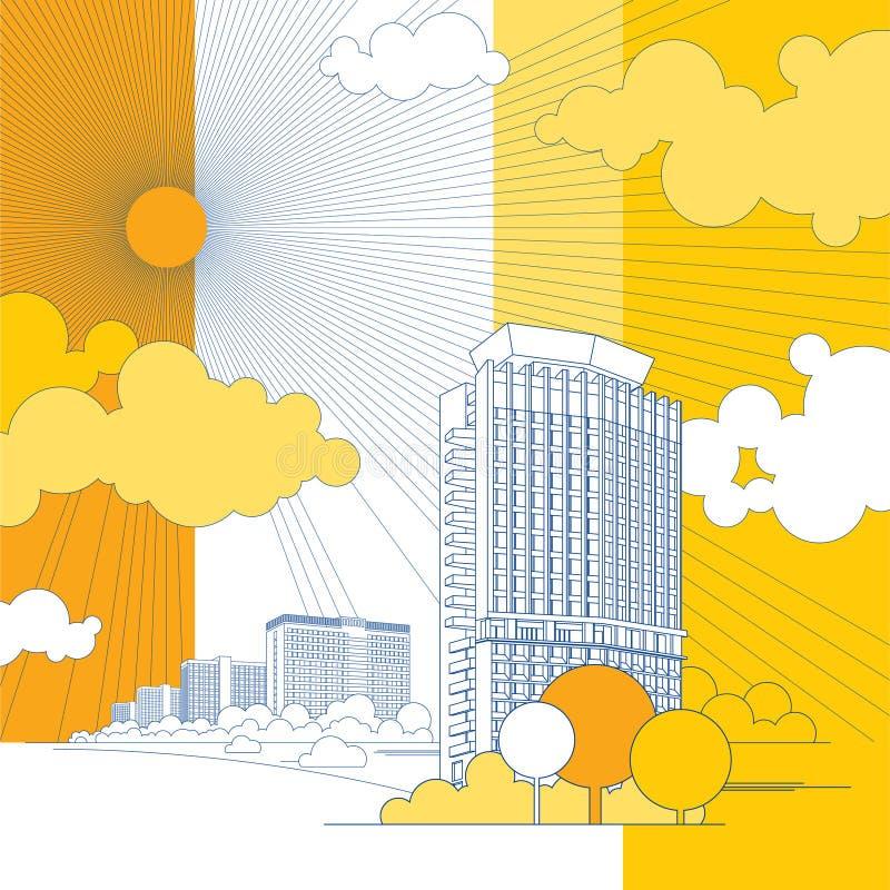 Download Kształtuje Teren Miastowego Ilustracja Wektor - Obraz: 6513029