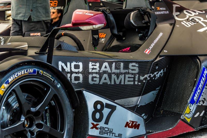 KTM X-BOW no circuito de Barcelona, Catalonia, Espanha fotografia de stock