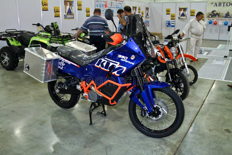 KTM motorbike. MOSCOW - AUGUST 25: KTM motorbike at the international exhibition of the auto and components industry, Interauto on August 25, 2011 in Moscow stock photo