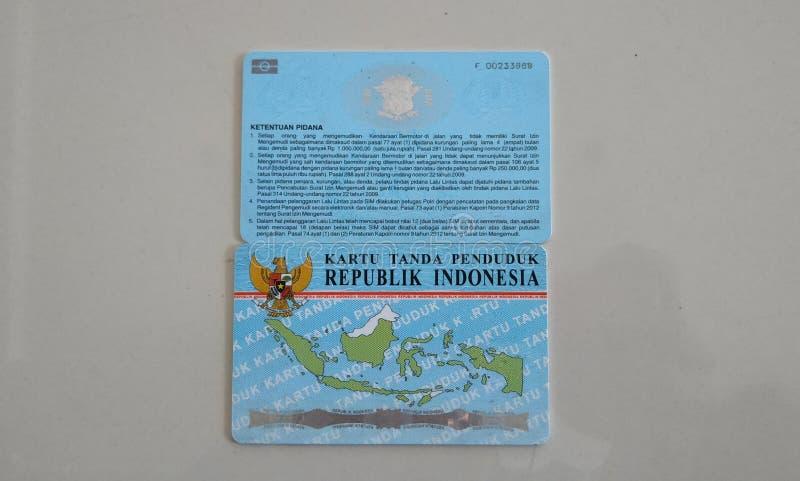KTP ed il SIM sono carte di identità per i cittadini indonesiani fotografie stock libere da diritti