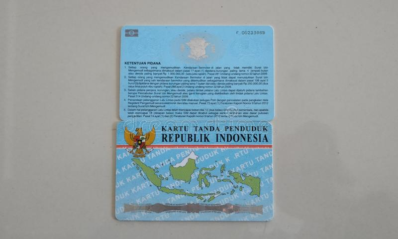 KTP and SIM are identity cards for Indonesian citizens royalty free stock photos