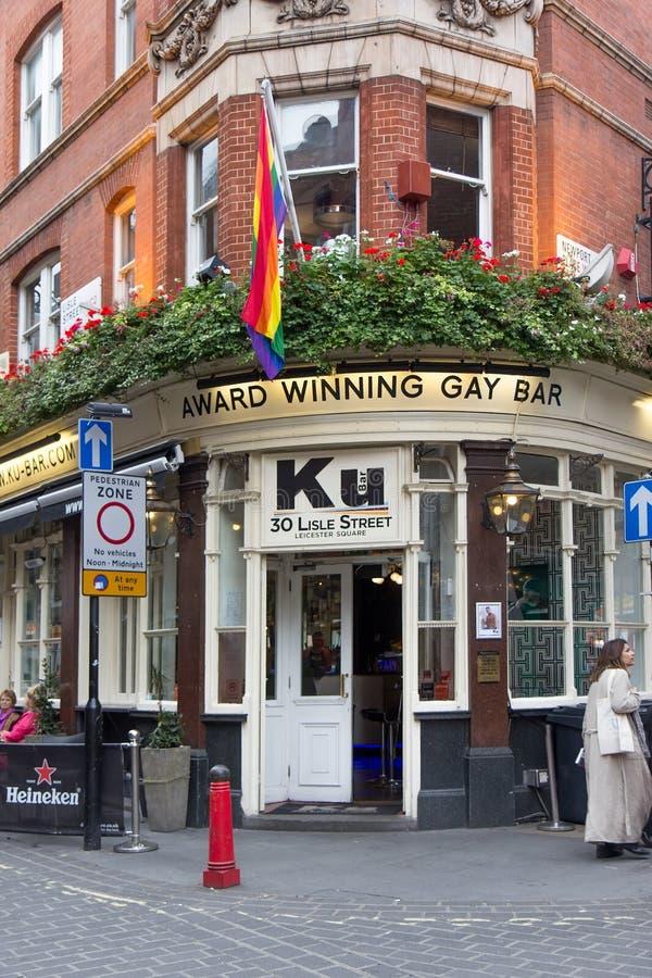 Ku酒吧在伦敦苏豪区,伦敦 库存照片