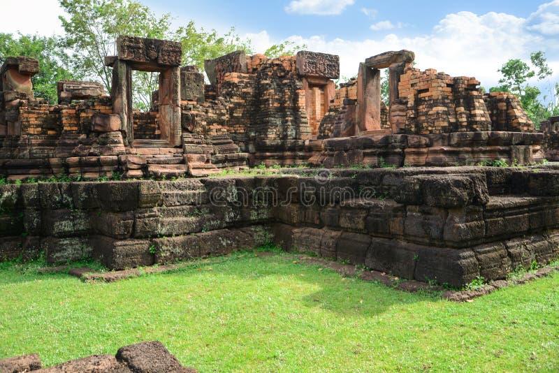Ku Ka Sing, Ancient public castle rock temple, Landmark Place of worship in Kasetwisai, Roi Et. Thailand royalty free stock images