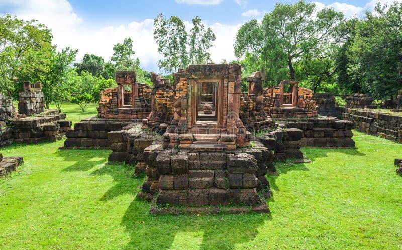 Ku Ka Sing, Ancient public castle rock temple, Landmark Place of worship in Kasetwisai, Roi Et. Thailand royalty free stock photos