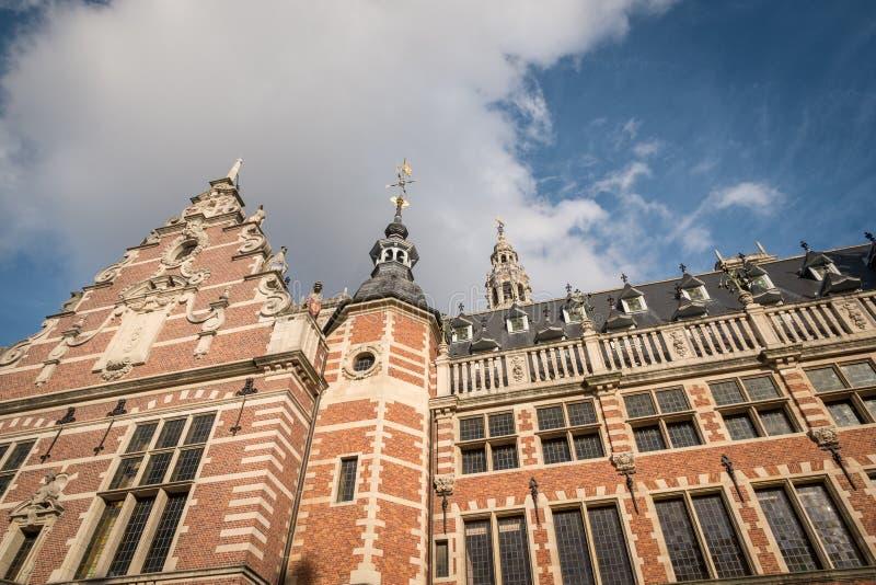 KU Leuven Library Belltower. stock photo