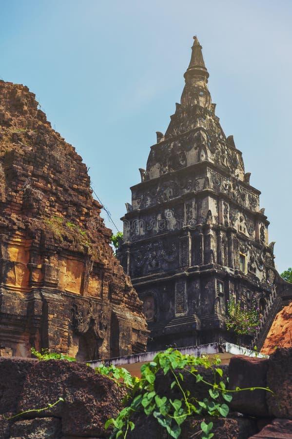 Ku Phra Kona, group of Khmer prangs or pagodas in Roi Et province, Northeastern Thailand. Ku Phra Kona, group of Khmer prangs or pagodas built in the 11th royalty free stock image