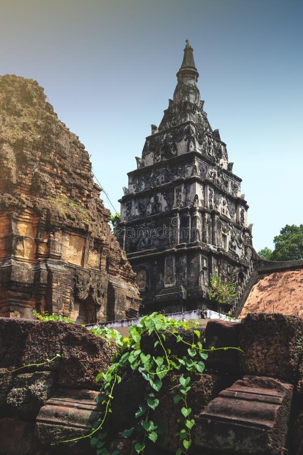 Ku Phra Kona, group of Khmer prangs or pagodas in Roi Et province, Northeastern Thailand. Ku Phra Kona, group of Khmer prangs or pagodas built in the 11th royalty free stock images