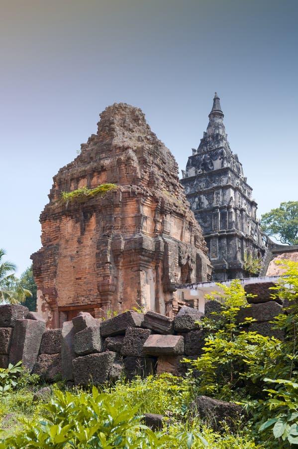 Ku Phra Kona, group of Khmer prangs or pagodas in Roi Et province, Northeastern Thailand. Ku Phra Kona, group of Khmer prangs or pagodas built in the 11th stock images