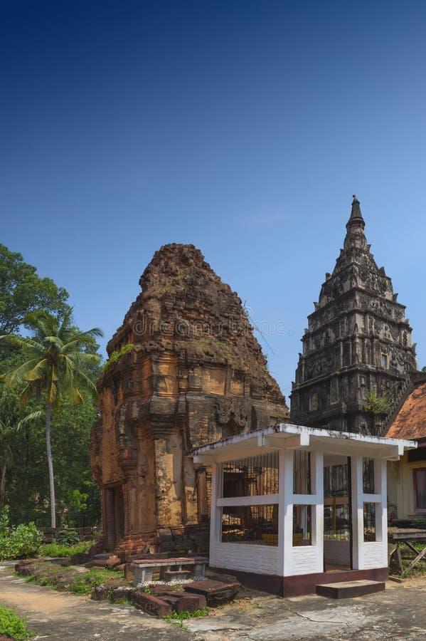 Ku Phra Kona, group of Khmer prangs or pagodas in Roi Et province, Northeastern Thailand. Ku Phra Kona, group of Khmer prangs or pagodas built in the 11th royalty free stock photos
