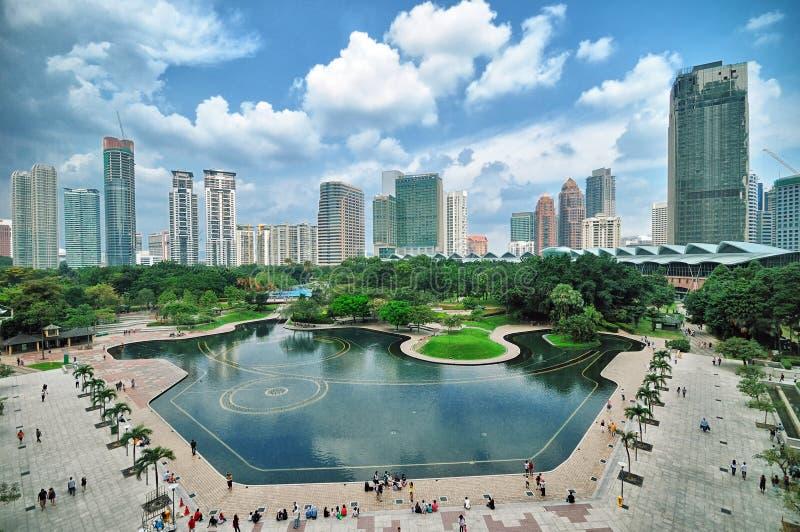Kuala de horizon van Lumpur, Maleisië royalty-vrije stock afbeelding