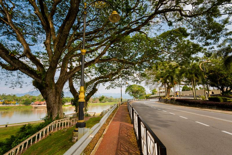 Kuala Kangsar-Stadtbild in Malaysia lizenzfreie stockfotografie