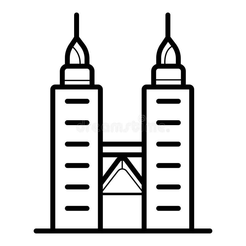 Kuala Lampur, ícone de Malásia ilustração do vetor