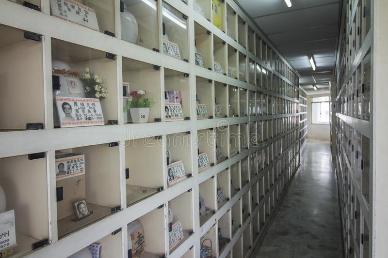 Chinese style columbarium where the descendant paying respect during Qing Ming festival stock photos