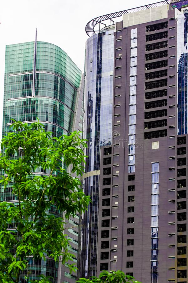 Kuala Lumpur śródmieście z szklanymi drapaczami chmur, Malezja obrazy stock