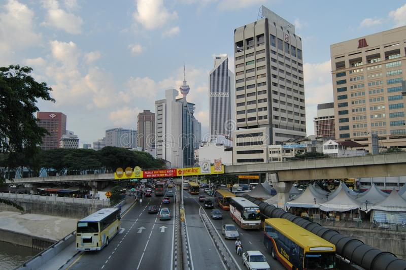 Kuala Lumpur centrum miasta - Środkowy Targowy teren zdjęcie stock