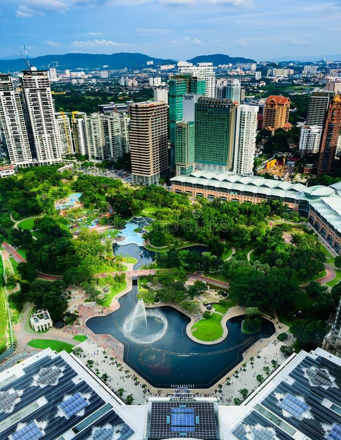 Kuala Lumpur City Centre Park image stock