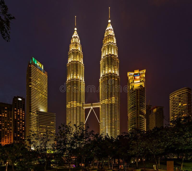 Kuala Lumpur city downtown skyline Twin Tower Malaysia stock photos