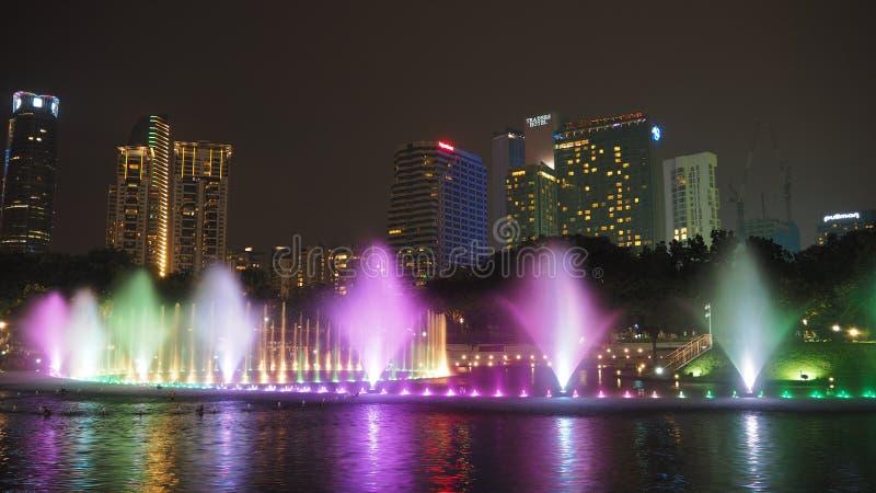 Kuala Lumpur en la noche imagen de archivo libre de regalías