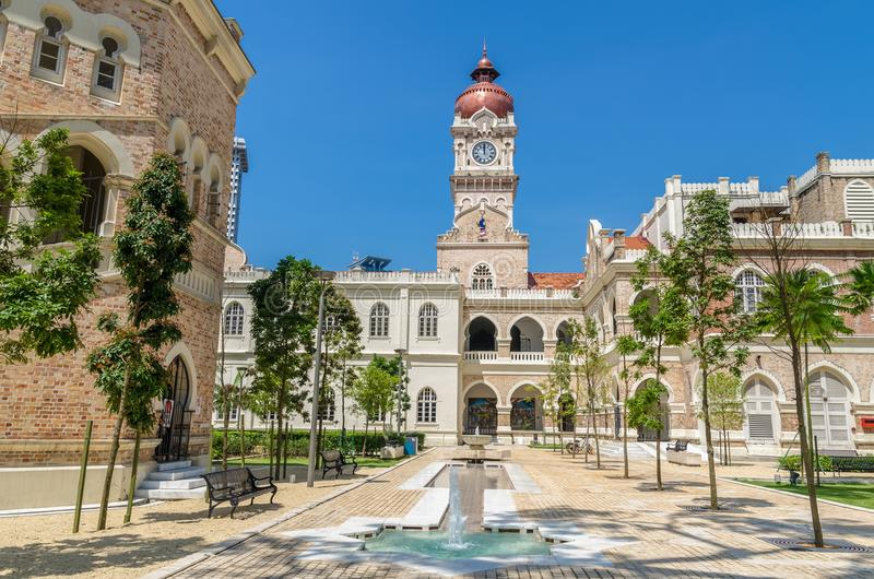 The Sultan Abdul Samad building is located in front of the Merdeka Square in Jalan Raja,Kuala Lumpur Malaysia. stock photography