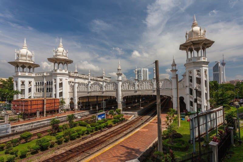 Kuala Lumpur gammal järnvägsstation royaltyfri foto
