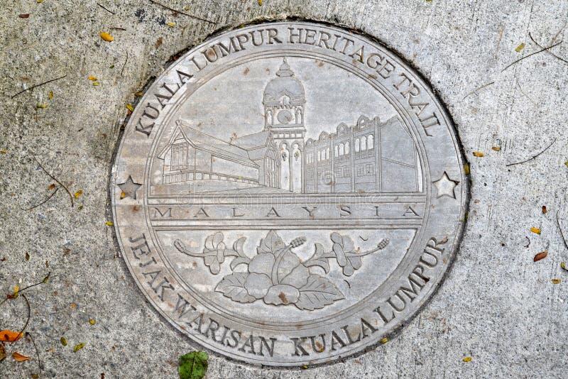 Kuala Lumpur Heritage Trail Logo photo libre de droits
