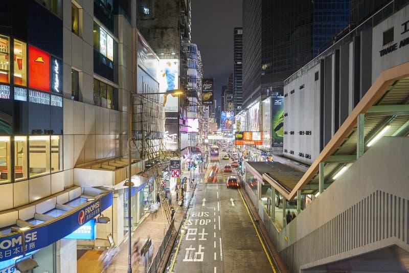 Kuala Lumpur-horizon bij nacht met balkonmening stock fotografie