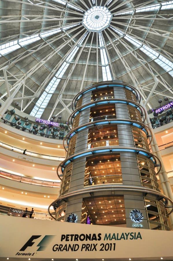 KUALA LUMPUR, il 10 aprile 2011: Arca simbolico di formula 1 fotografie stock libere da diritti