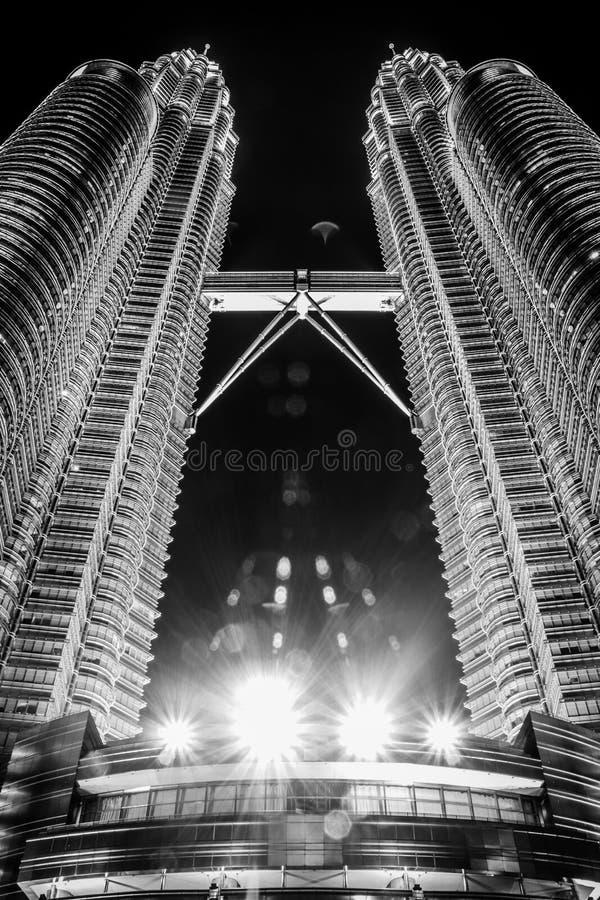 Kuala lumpur lights royalty free stock images