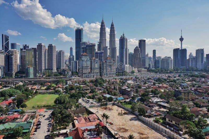 Kuala Lumpur linia horyzontu fotografia royalty free