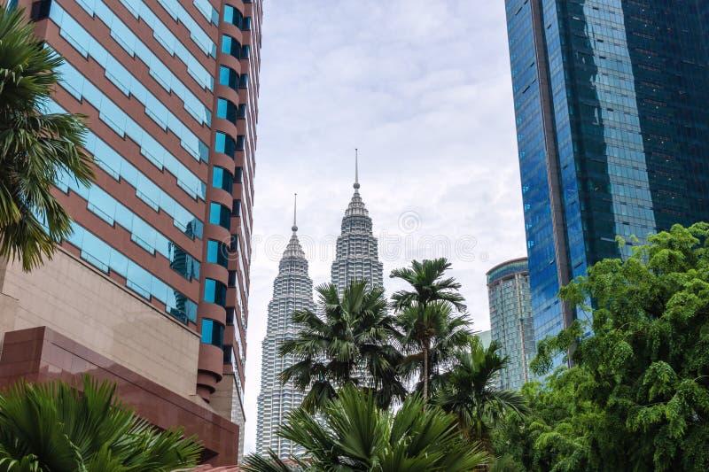 Kuala Lumpur linia horyzontu, miasto widok w śródmieściu zdjęcie stock