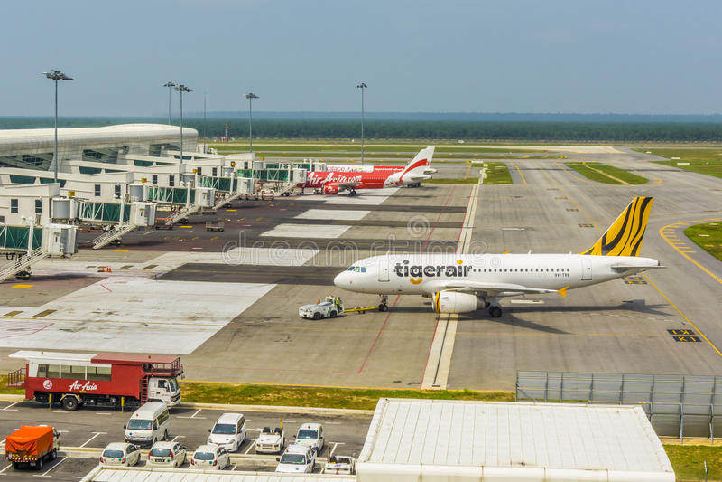 Kuala Lumpur lotniska międzynarodowego Terminal 2 obraz royalty free