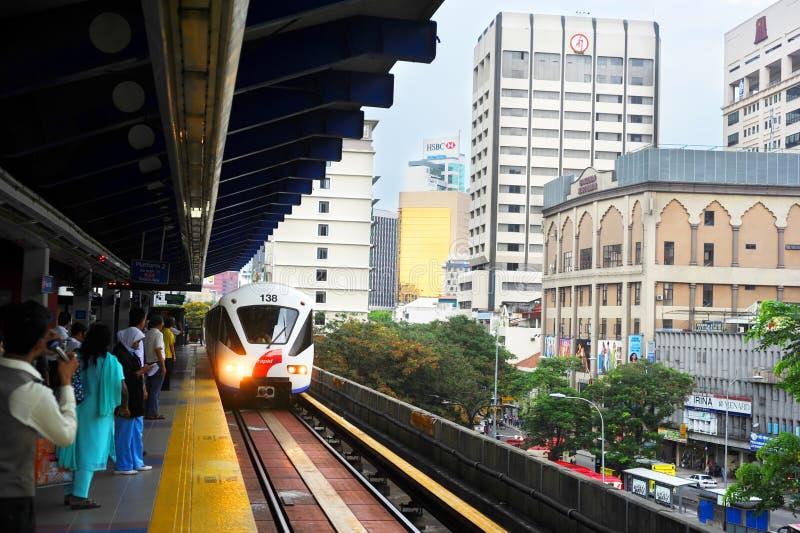 Kuala Lumpur LRT stock fotografie
