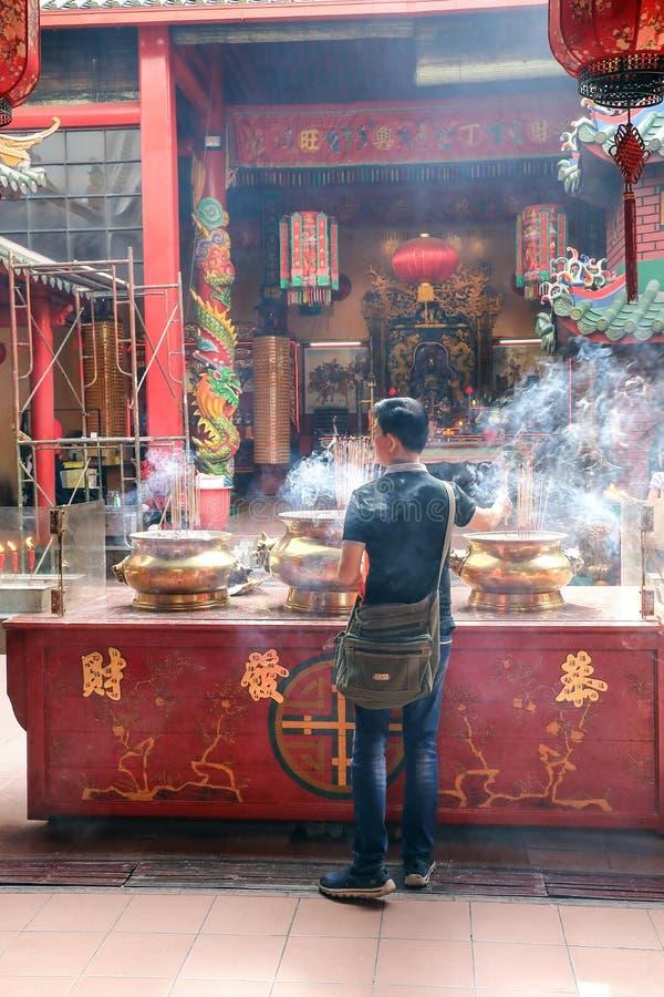 KUALA LUMPUR, MALÁSIA 19 DE AGOSTO DE 2017: Guan Di Temple Founded fotografia de stock