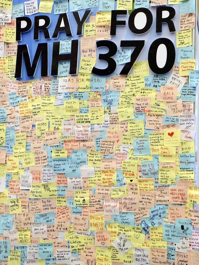 Kuala Lumpur, Malásia 23 de março de 14 - rezar para MH370 foto de stock