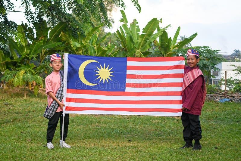 Kuala Lumpur, Malaisie 3 août 2017 : Étudiants primaires malaisiens photographie stock libre de droits