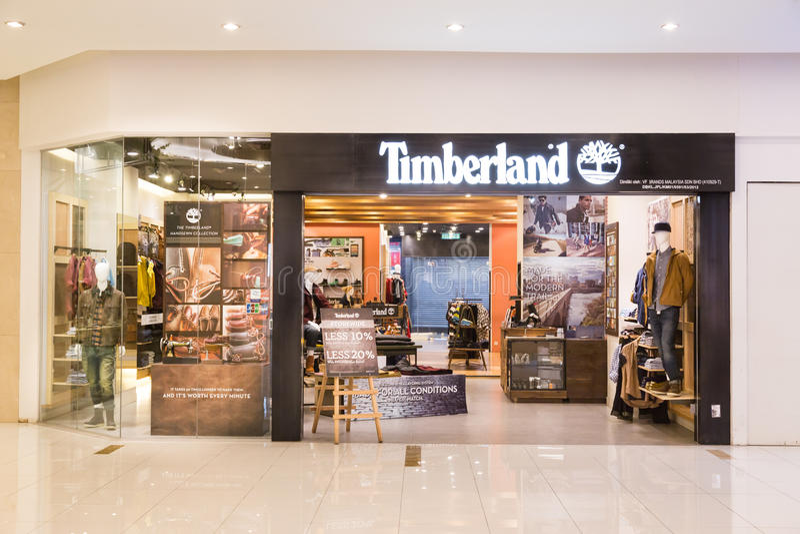 KUALA LUMPUR, MALAISIE - 29 janvier 2017 : Reta de LLC de Timberland photographie stock libre de droits