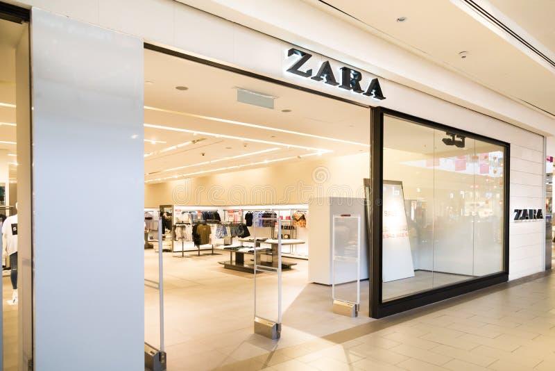 KUALA LUMPUR, MALAISIE - 29 janvier 2017 : Zara est un Cl espagnol images libres de droits