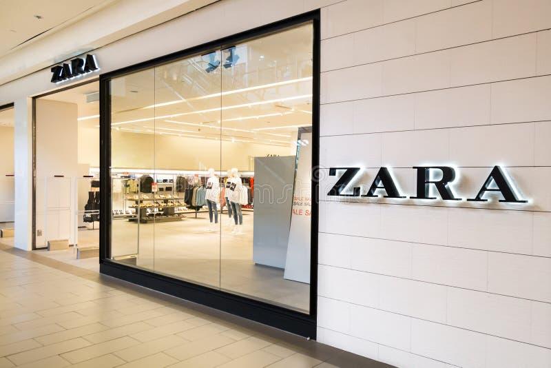 KUALA LUMPUR, MALAISIE - 29 janvier 2017 : Zara est un Cl espagnol photo stock