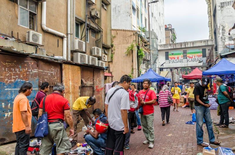Kuala Lumpur, Malasia - agosto 5,2019: El quilate de Pasar es el mercado de pulgas que está situado en el Chinatown, Kuala Lumpur foto de archivo libre de regalías