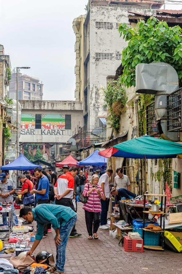 Kuala Lumpur, Malasia - agosto 5,2019: El quilate de Pasar es el mercado de pulgas que está situado en el Chinatown, Kuala Lumpur imagen de archivo libre de regalías